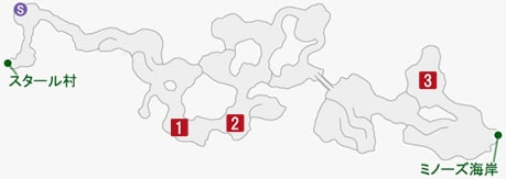 鋭敏たるギリーガの居場所のマップ