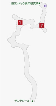 電撃のオーサの居場所のマップ