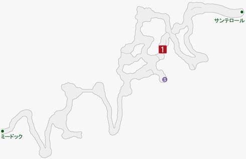 永朽のフランの居場所のマップ