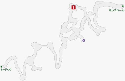 雄飛のホウライの居場所のマップ