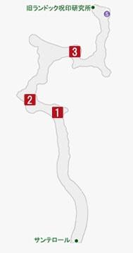 越境のオヤッツの居場所のマップ
