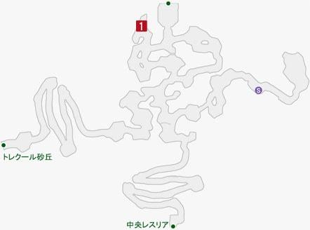 遁走のアビゲイルの居場所のマップ