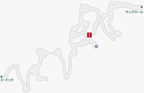 怠惰のピグリ、>堕落のアセディアの居場所のマップ