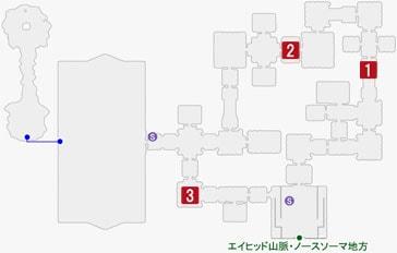 蛮行のビグルスの居場所のマップ