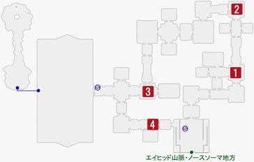 健脚なるペッカーの居場所のマップ
