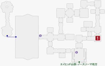 凍てつきのドーラーの居場所のマップ