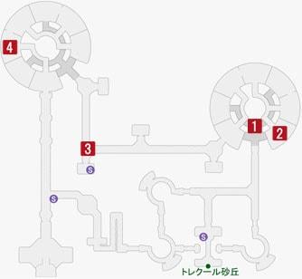 狡猾なるズルテールの居場所のマップ