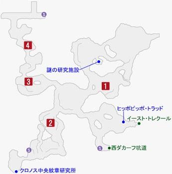 ゲリラ兵の居場所のマップ