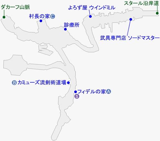 スタール村のマップ