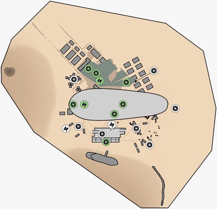 ヒーローハントのデューン・シーの取引所のマップ