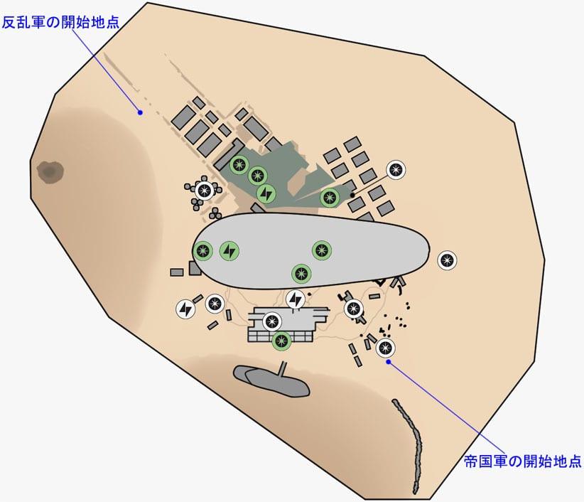 ヒーローVS.ヴィランのデューン・シーの取引所のマップ