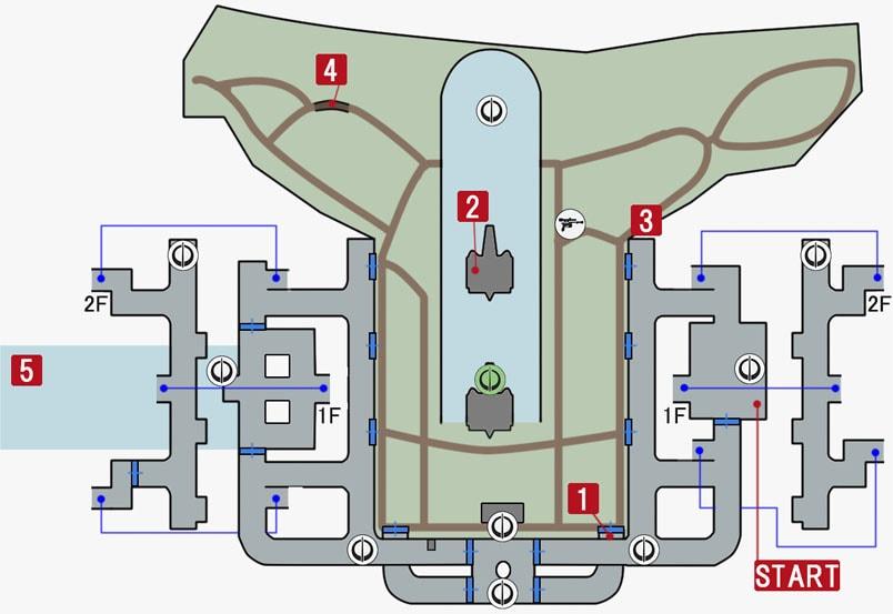 ヒーローバトル『エンドア』のマップ