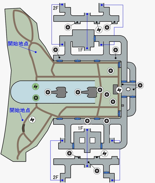ブラストの帝国軍駐屯地のマップ