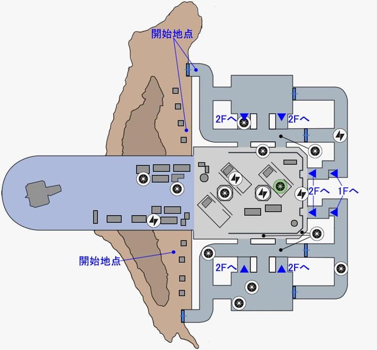 ブラストの帝国軍ハンガーのマップ
