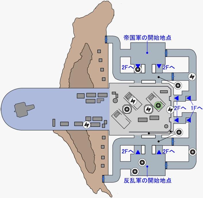 ヒーローVS.ヴィランの帝国軍ハンガーのマップ