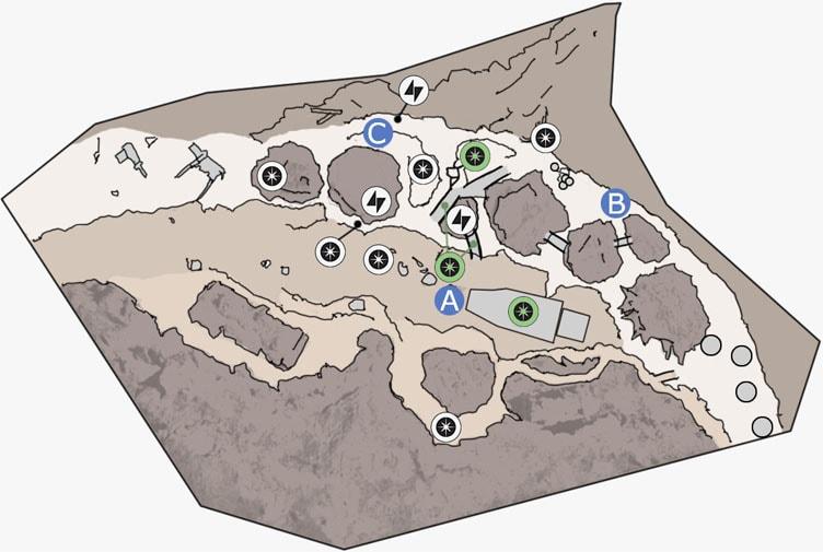 ドロイドランのジャワの拠点のマップ