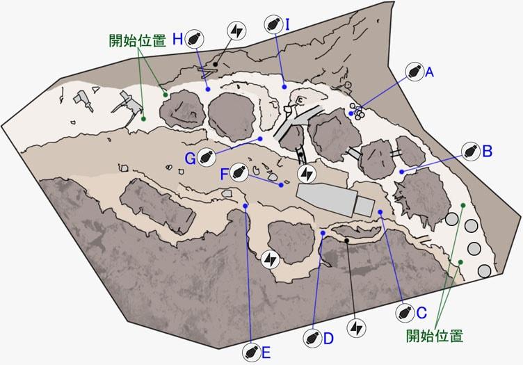 ドロップゾーンのジャワの拠点のマップ