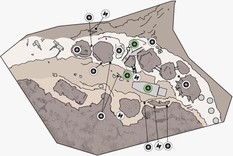 ヒーローハントのジャワの拠点のマップ