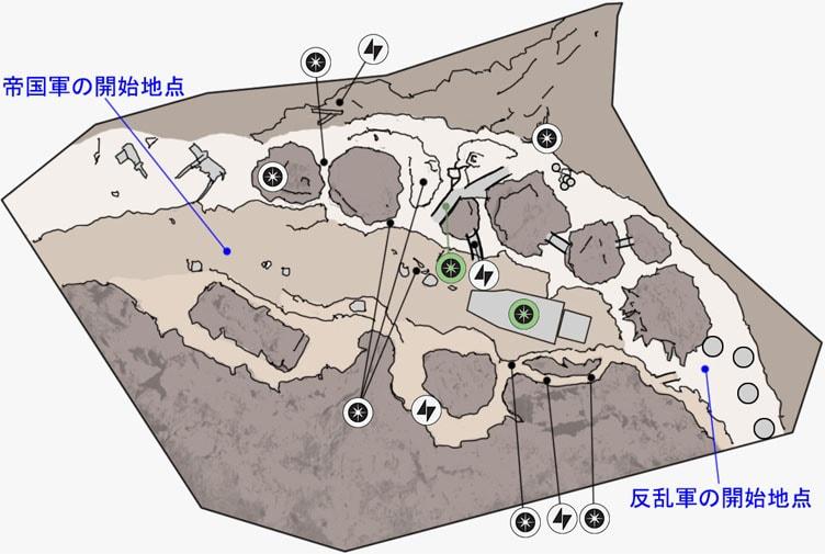 ヒーローVS.ヴィランのジャワの拠点のマップ