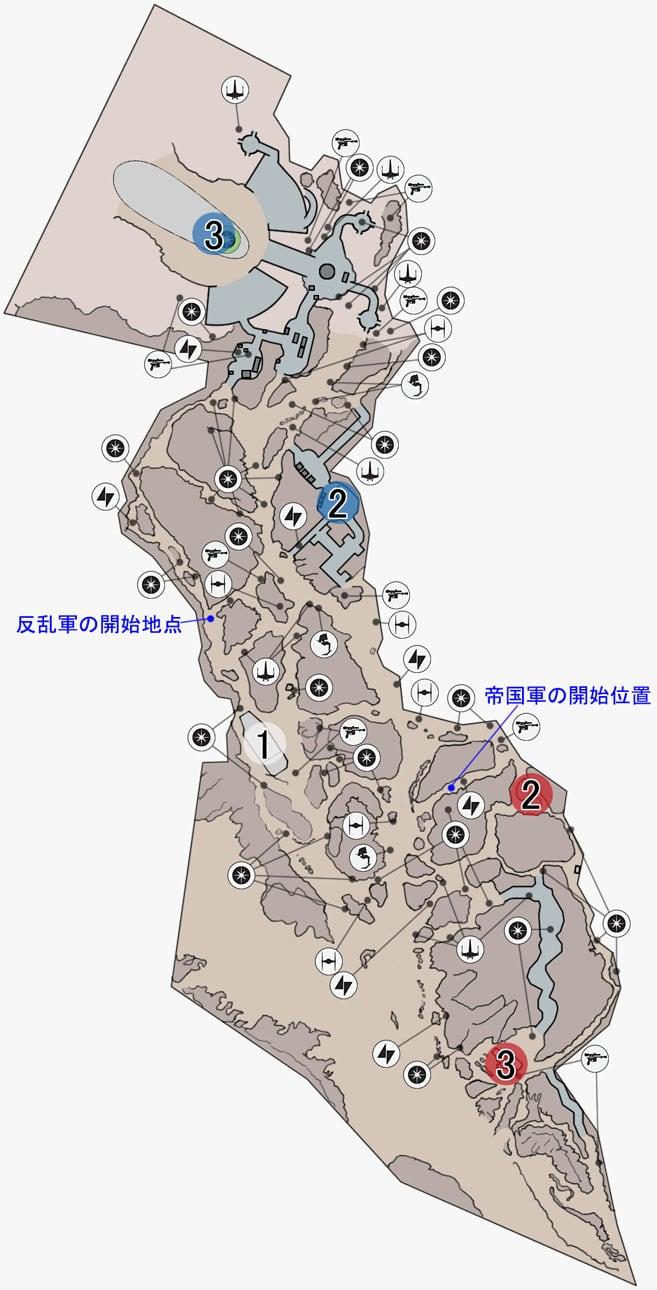 スプレマシーのジャンドランド荒野のマップ