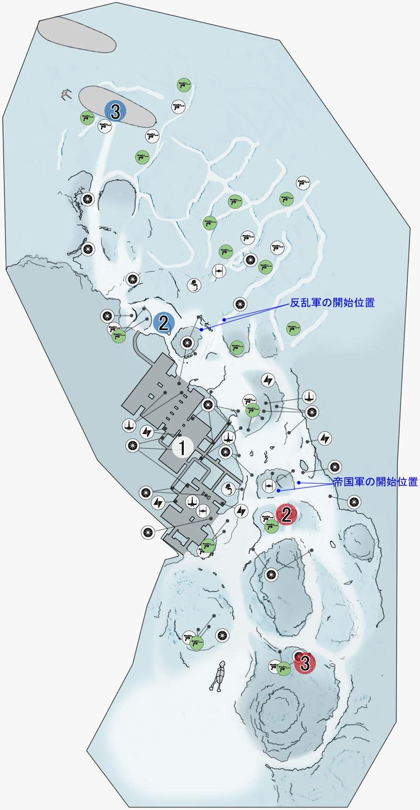 スプレマシーの前哨基地ベータのマップ