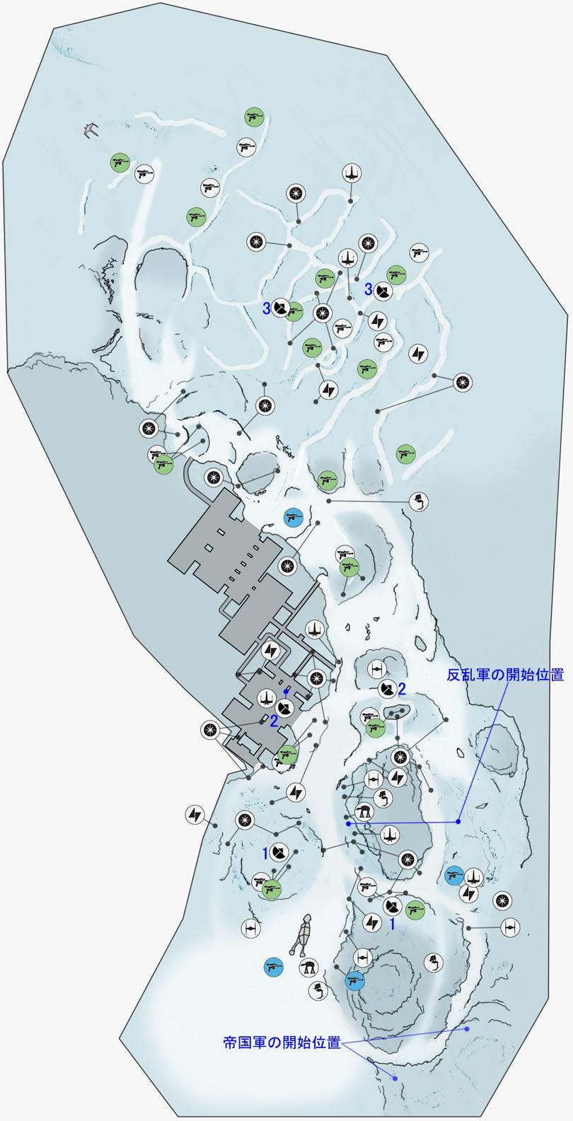 ウォーカー・アサルトの前哨基地ベータのマップ