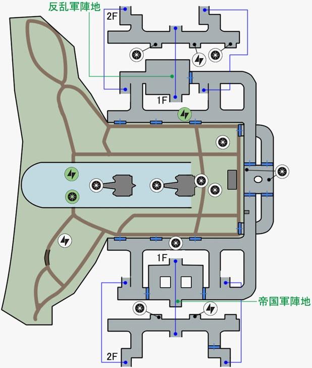 カーゴの反乱同盟軍基地のマップ