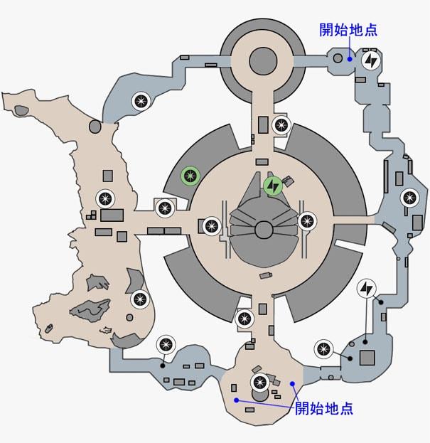 ブラストの反乱同盟軍貯蔵庫のマップ