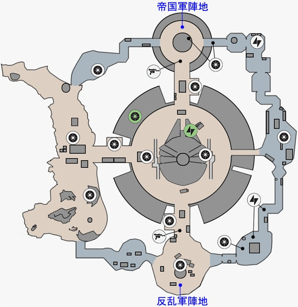 カーゴの反乱同盟軍貯蔵庫のマップ