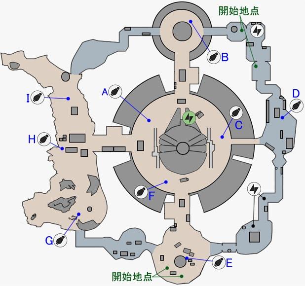 ドロップゾーンの反乱同盟軍貯蔵庫のマップ