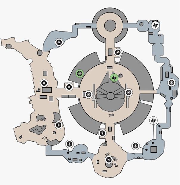 ヒーローハントの反乱同盟軍貯蔵庫のマップ