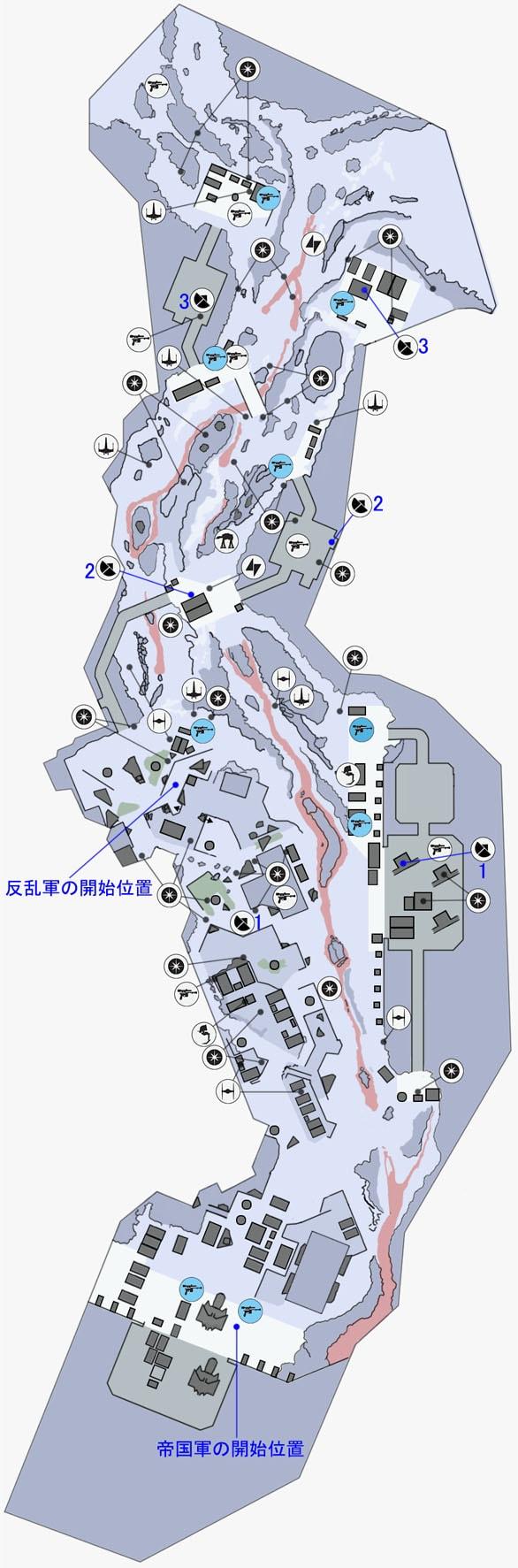 ウォーカー・アサルトのソロスーブ本社施設のマップ