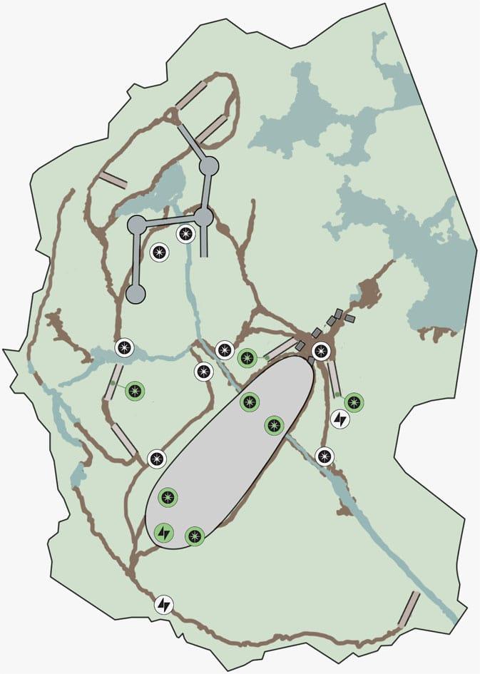 ヒーローハントの湿地帯の墜落地点のマップ