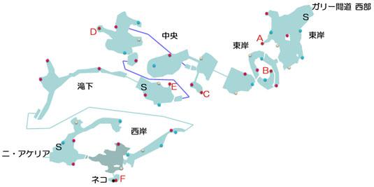 キジル海瀑のマップ