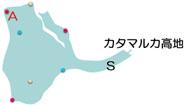 ウプサーラ湖跡のマップ