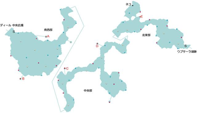 カタマルカ高地のマップ