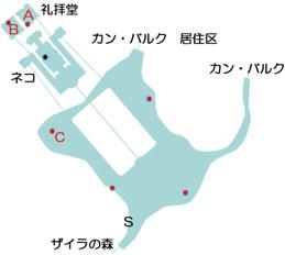 ザイラの森の教会のマップ