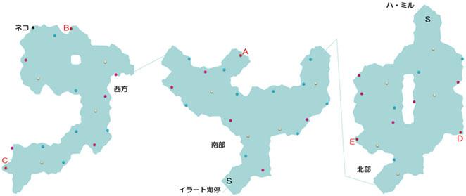 イラート間道のマップ