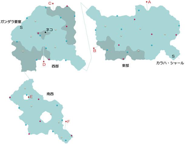 タラス街道のマップ