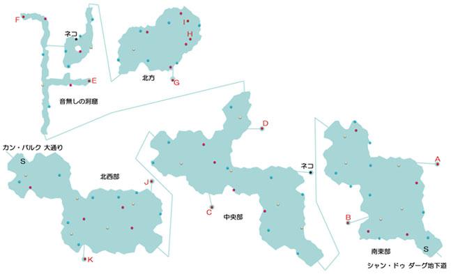 モン高原のマップ