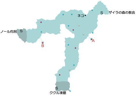 ザイラの森のマップ