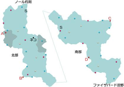 セイライ冷原のマップ