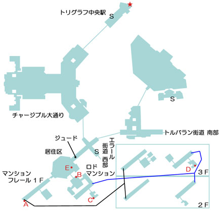 トリグラフのマップ