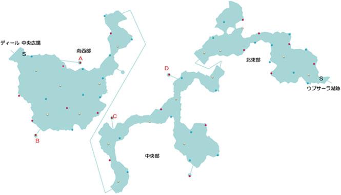 分史世界のカタマルカ高地のマップ