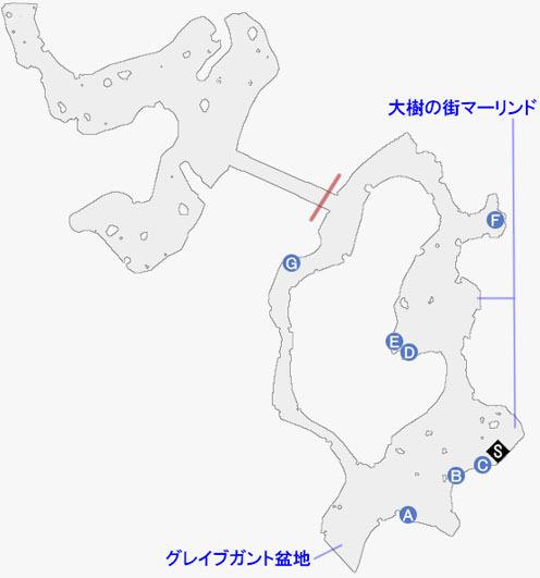 アリーシャエピソード-フォルクエン丘陵のマップ
