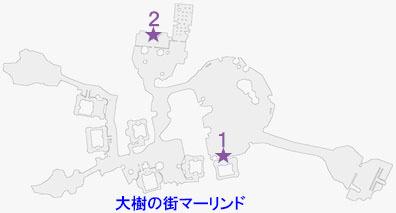 赤の瞳石・フューラの入手マップ