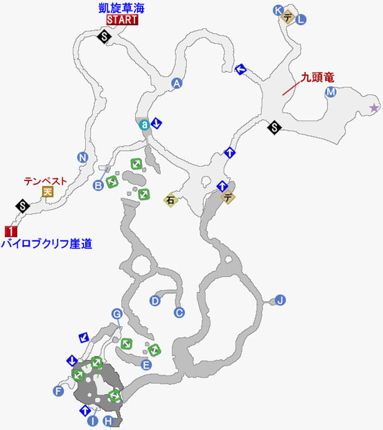 カンブリア地底洞の攻略マップ