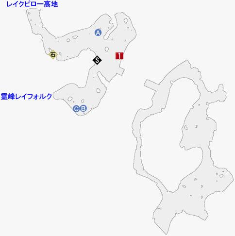 フォルクエン丘陵の攻略マップ