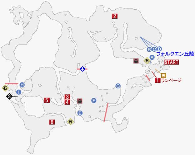 グレイブガント盆地の攻略マップ