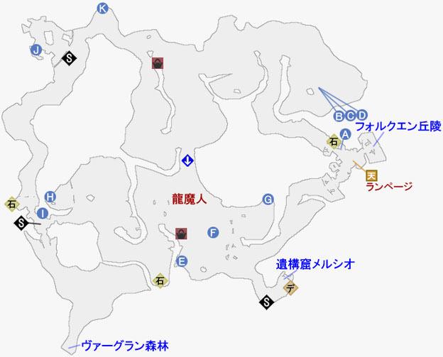 グレイブガント盆地のマップ
